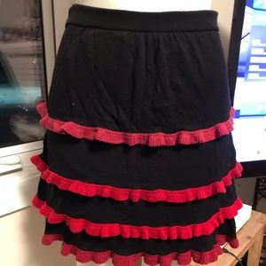 Black skirt with layers and coloured edges
